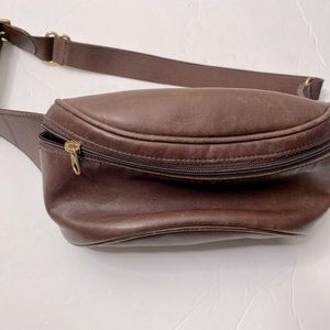 COACH VTG BRown Leather Fanny Pack Bag Waist Pouch